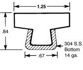 Guide Rail GRA1.25TTOP