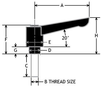Adjustable Ratchet Handles Stud Type