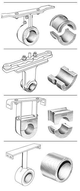 Hanger Bearings and Trough Liners